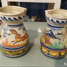 Vintage: 2 JARRAS CERAMICA. Lote 255396010