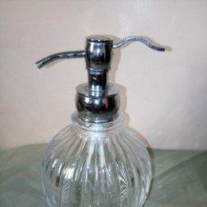 Vintage: PRECIOSA JABONERA DE CRISTAL TALLADO. Lote 255510815