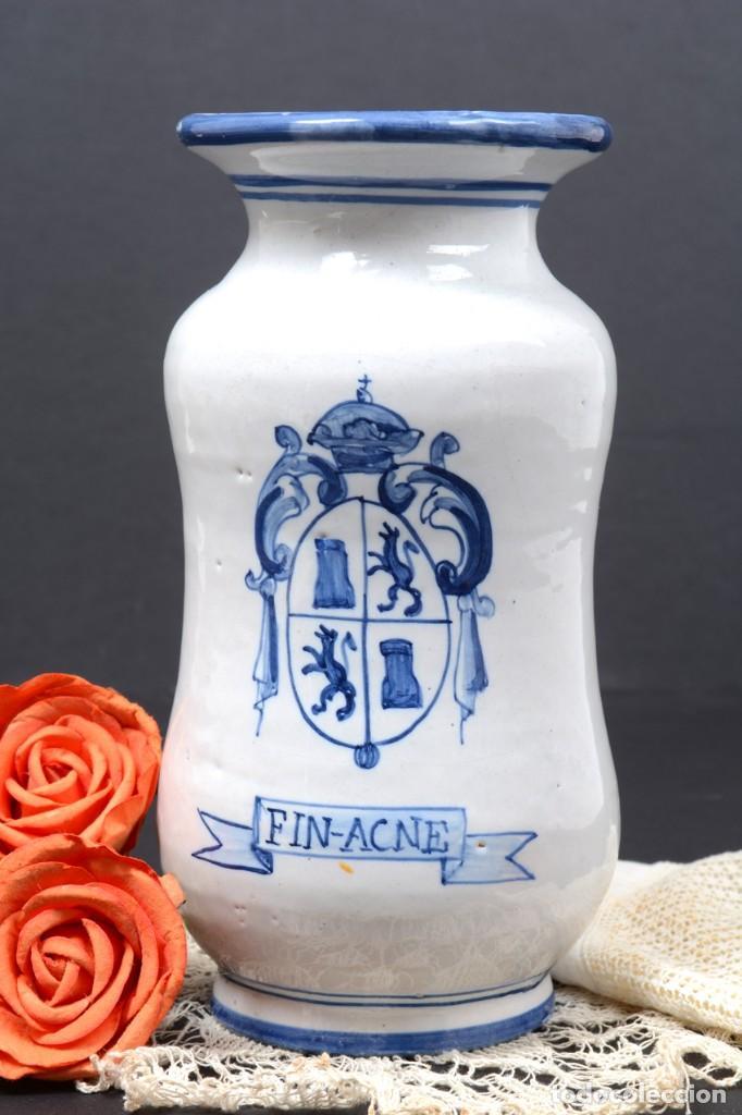 Vintage: Albarelo tarro de farmacia vintage de cerámica de Talavera, España, tarro herbolario - Foto 2 - 255565355