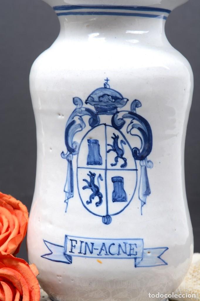 Vintage: Albarelo tarro de farmacia vintage de cerámica de Talavera, España, tarro herbolario - Foto 3 - 255565355