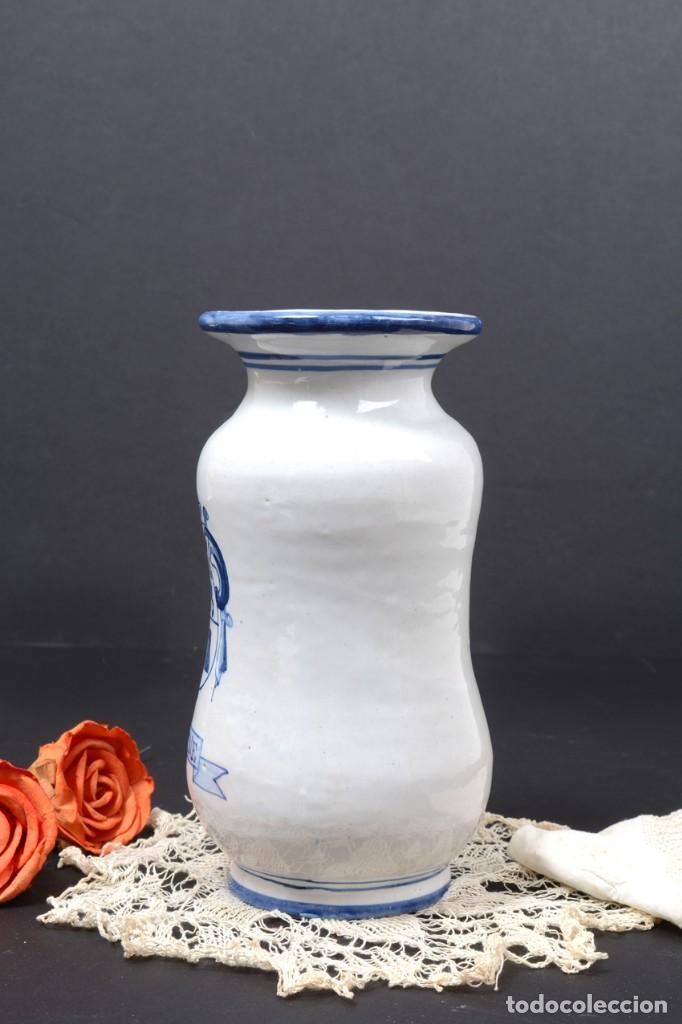 Vintage: Albarelo tarro de farmacia vintage de cerámica de Talavera, España, tarro herbolario - Foto 4 - 255565355