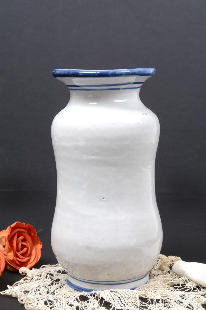 Vintage: Albarelo tarro de farmacia vintage de cerámica de Talavera, España, tarro herbolario - Foto 5 - 255565355