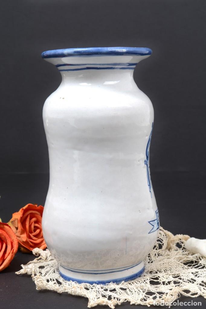 Vintage: Albarelo tarro de farmacia vintage de cerámica de Talavera, España, tarro herbolario - Foto 6 - 255565355