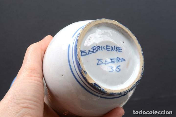 Vintage: Albarelo tarro de farmacia vintage de cerámica de Talavera, España, tarro herbolario - Foto 8 - 255565355