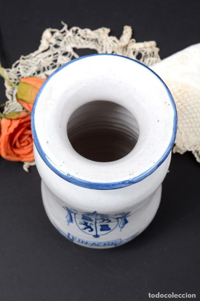 Vintage: Albarelo tarro de farmacia vintage de cerámica de Talavera, España, tarro herbolario - Foto 10 - 255565355