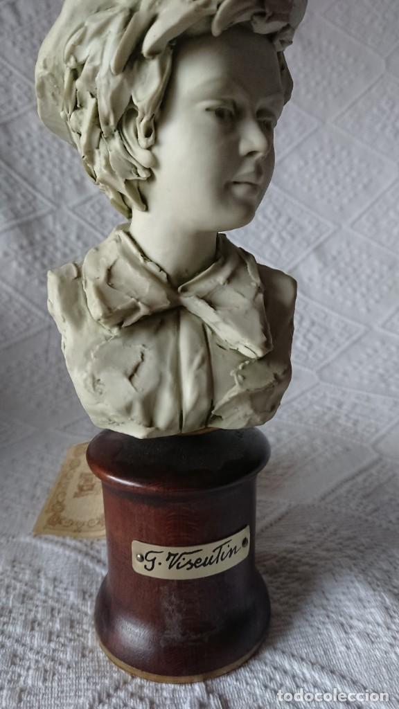 """Vintage: ESCULTURA DE PORCELANA BISQUIT COLECCIÓN """"PORCELLAN DARTE RICHELIEU"""". G. VISEUTIN. EDICION LIMITADA - Foto 6 - 257524280"""