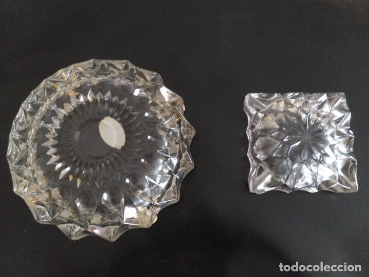 Vintage: Lote de 2 ceniceros cristal tallado. Uno con baño de oro 24 kilates. - Foto 5 - 260516770