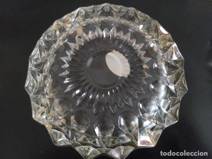 Vintage: Lote de 2 ceniceros cristal tallado. Uno con baño de oro 24 kilates. - Foto 6 - 260516770