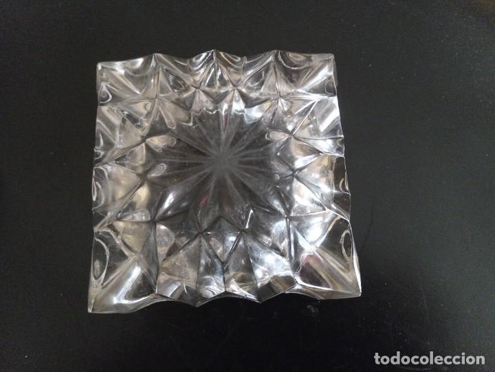 Vintage: Lote de 2 ceniceros cristal tallado. Uno con baño de oro 24 kilates. - Foto 7 - 260516770