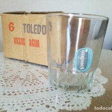 Vintage: 6 VASOS DE AGUA IMPACT. NUEVOS.. Lote 261290290