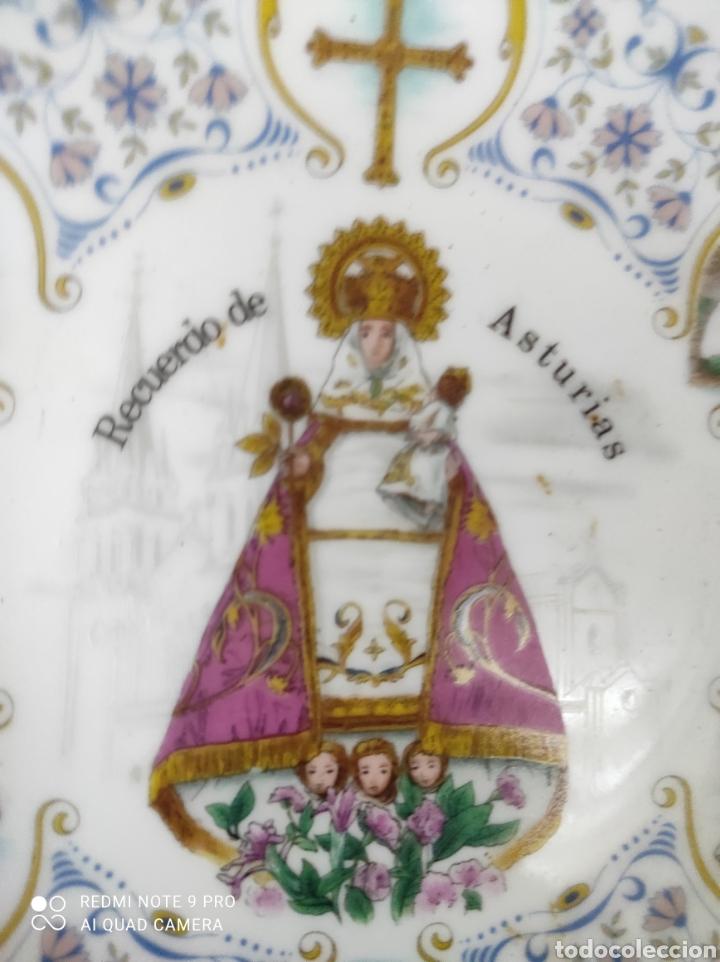 PLATO DECORATIVO VIRGEN DE COVADONGA (Vintage - Decoración - Porcelanas y Cerámicas)