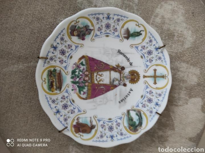 Vintage: Plato decorativo Virgen de Covadonga - Foto 4 - 262048285