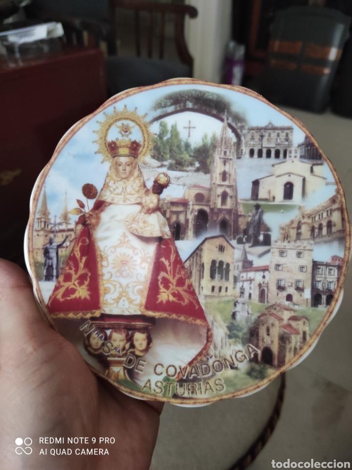 Vintage: Plato recuerdo Virgen de Covadonga - Foto 3 - 262049005