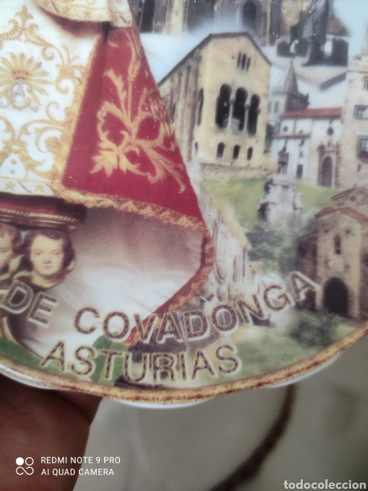 Vintage: Plato recuerdo Virgen de Covadonga - Foto 4 - 262049005