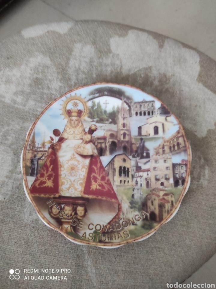 PLATO RECUERDO VIRGEN DE COVADONGA (Vintage - Decoración - Porcelanas y Cerámicas)