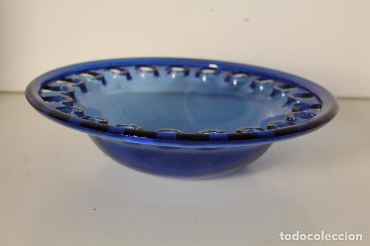 Vintage: centro frutero cristal azul - Foto 3 - 262836150