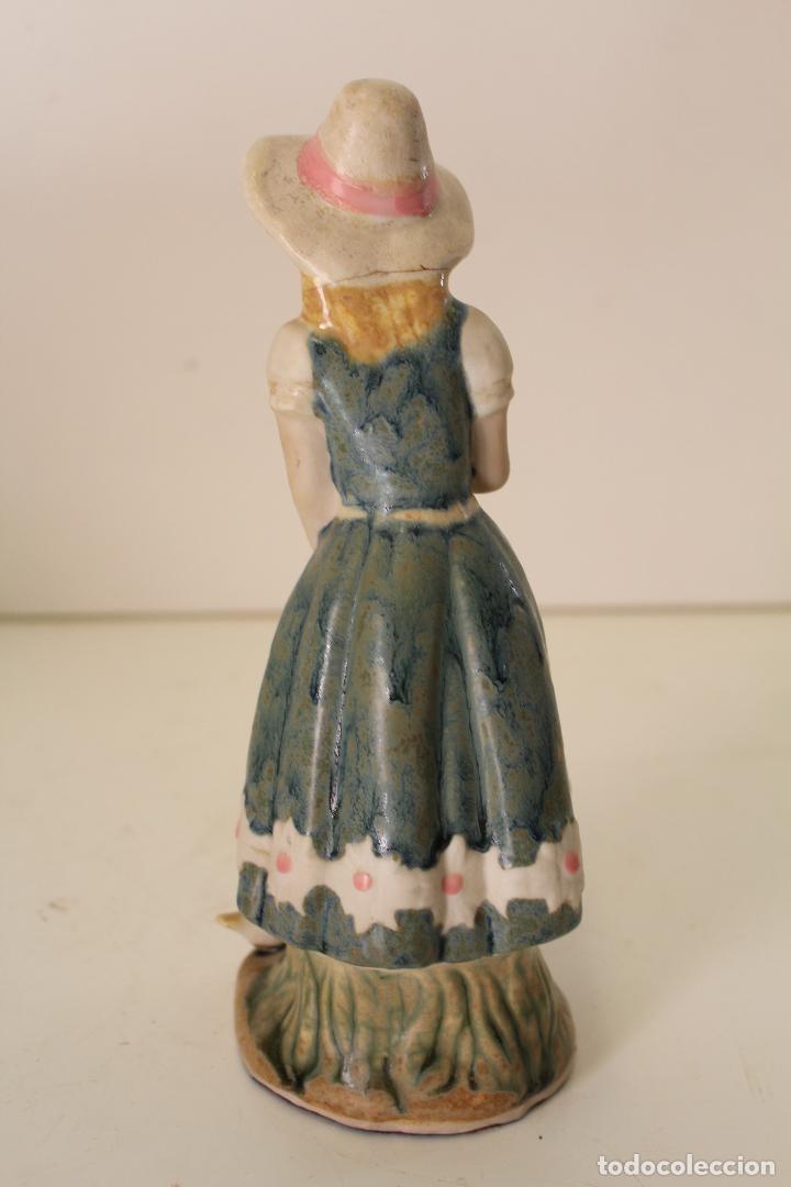 Vintage: niña con patos porcelana - Foto 5 - 262844040