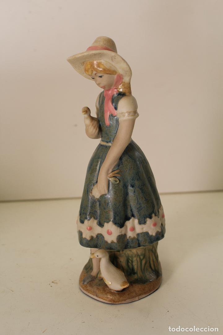 Vintage: niña con patos porcelana - Foto 6 - 262844040