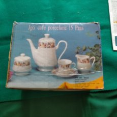 Vintage: JUEGO CAFÉ TÉ 15 PIEZAS. NUEVO. CERÁMICA ,PORCELANA.. Lote 263192515