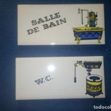 Vintage: DOS PLACAS DE CERAMICA. Lote 264024710