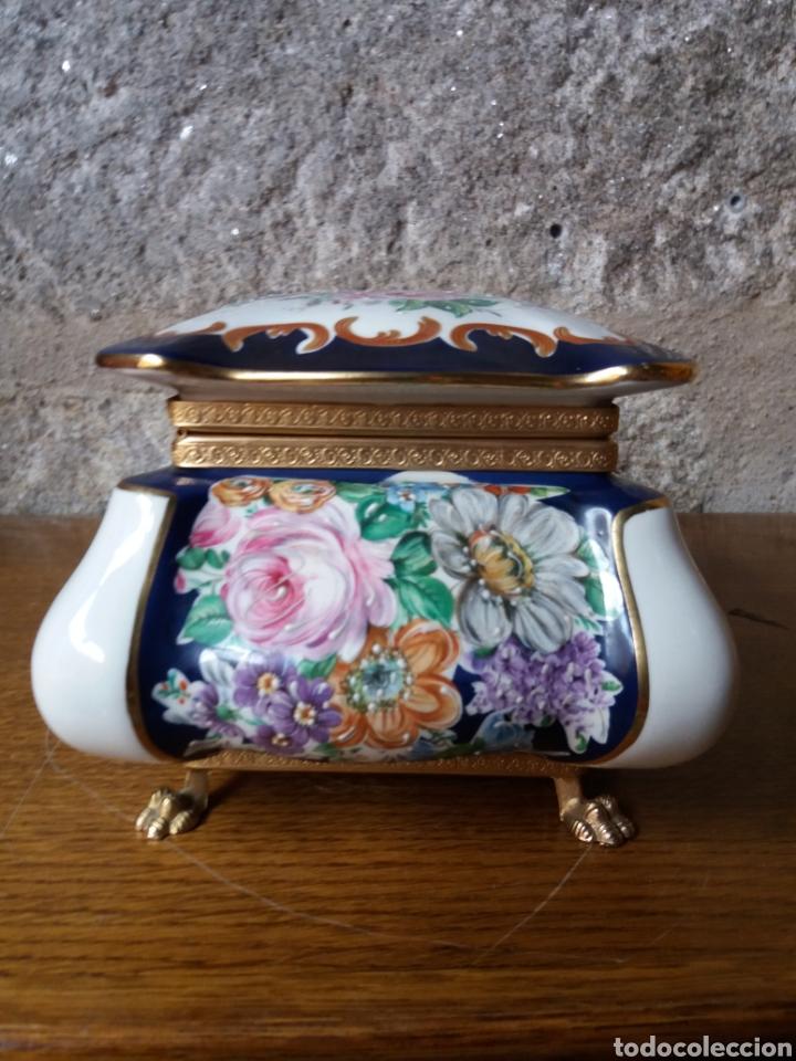 Vintage: Joyero Limoges (pintado a mano) - Foto 2 - 266559293