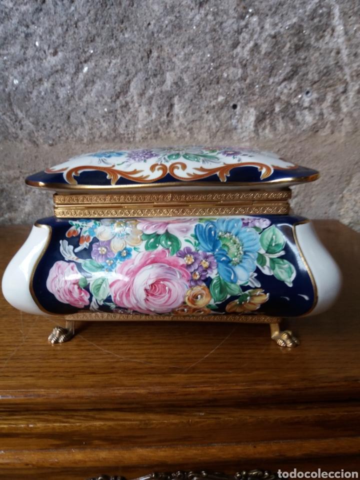 Vintage: Joyero Limoges (pintado a mano) - Foto 3 - 266559293