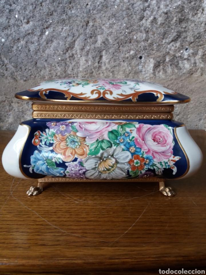 JOYERO LIMOGES (PINTADO A MANO) (Vintage - Decoración - Porcelanas y Cerámicas)