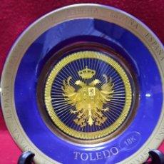 Vintage: PLATO TOLEDO ORO 18 KILATES. Lote 272207443