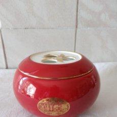 Vintage: PRECIOSO RECIPIENTE DE PORCELANA PARA TÉ , BAMA TEA SINCE 1736, AURATIC. Lote 273101423
