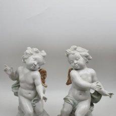 Vintage: PAREJA ANGELITOS EN CERAMICA SUREDA ( SPAIN ) VER FOTOS ( 30 CM ALTO ). Lote 274894023