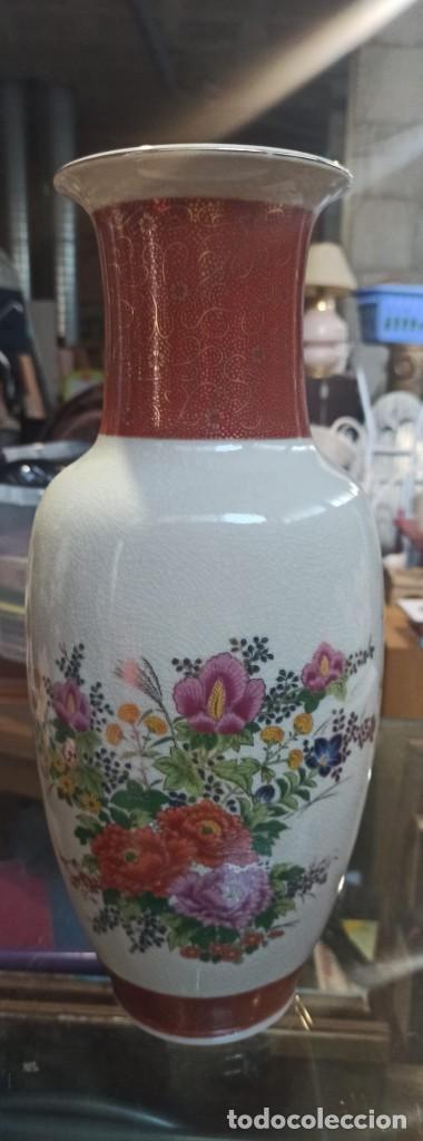 BONITO JARRON PORCELANA JAPON (Vintage - Decoración - Jarrones y Floreros)