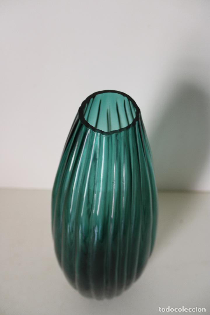 Vintage: jarron cristal azul - Foto 3 - 277112813