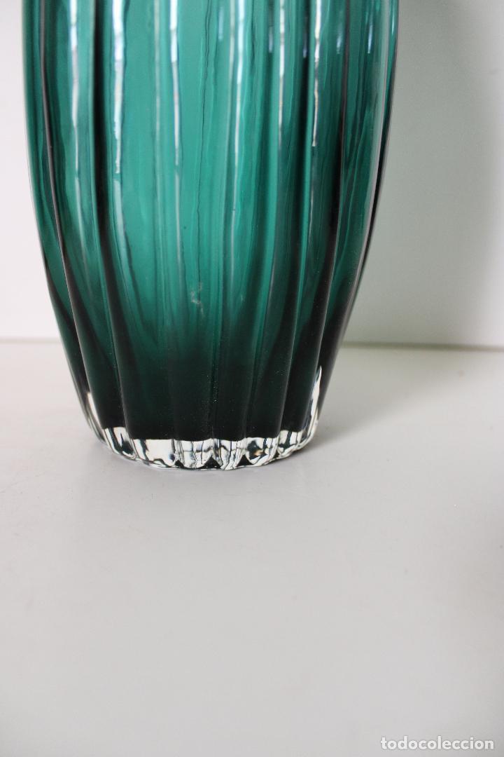 Vintage: jarron cristal azul - Foto 4 - 277112813