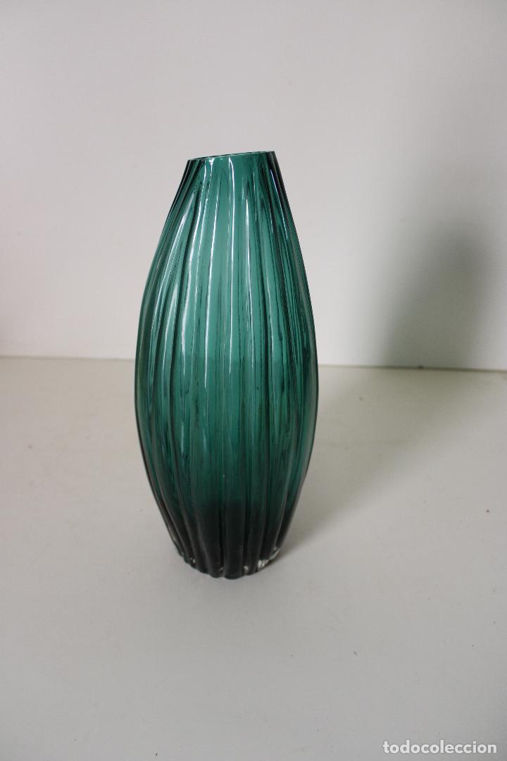 Vintage: jarron cristal azul - Foto 5 - 277112813