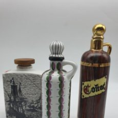 Vintage: LOTE BOTELLAS COÑAC PORCELANA. Lote 280588888