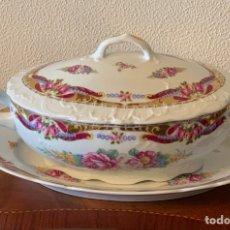 Vintage: SOPERA DE PORCELANA LIMOGES.. Lote 287381703