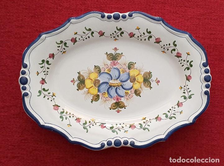 PLATO PINTADO A MANO ALBALAT (Vintage - Decoración - Porcelanas y Cerámicas)