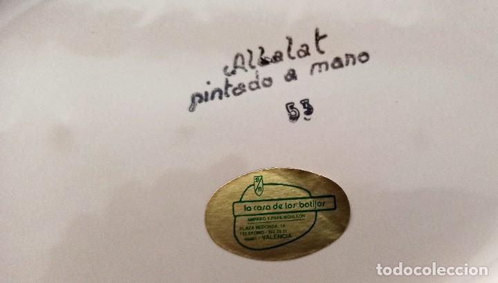 Vintage: Plato pintado a mano Albalat - Foto 4 - 287693898