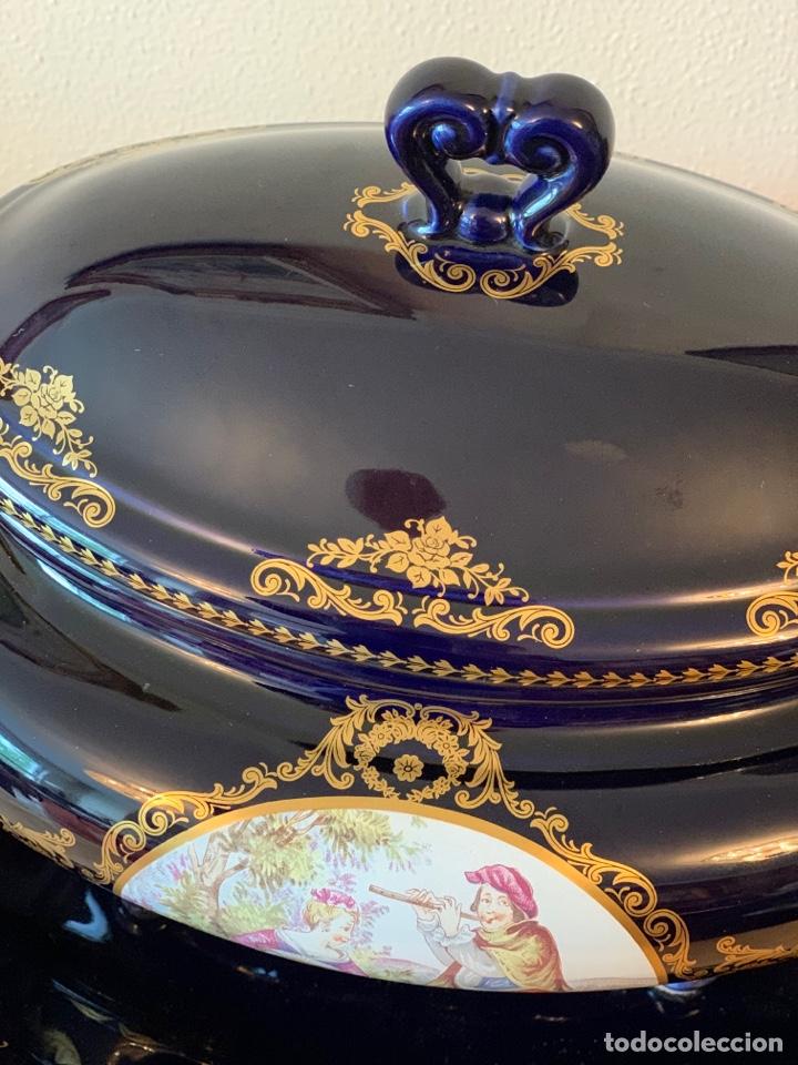 Vintage: Sopera de porcelana y bandeja Limoges - Foto 6 - 287789763