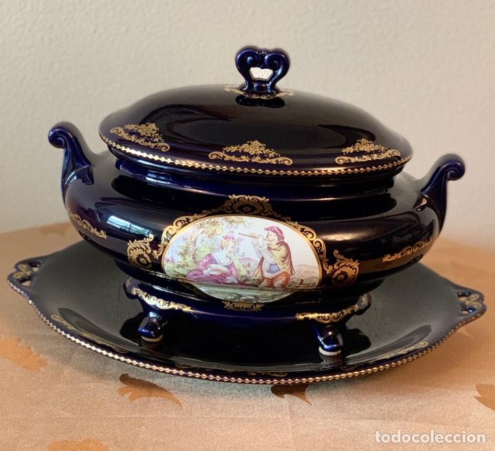 Vintage: Sopera de porcelana y bandeja Limoges - Foto 7 - 287789763