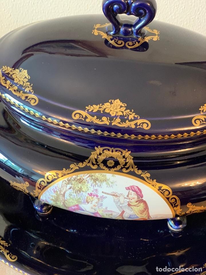 Vintage: Sopera de porcelana y bandeja Limoges - Foto 9 - 287789763