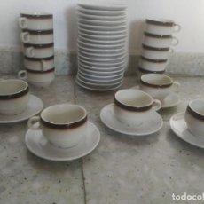 Vintage: JUEGO DE CAFÉ PORCELANA CIM. 16 TAZAS Y 24 PLATOS. HOSTELERÍA, CAFETERÍA. Lote 287921508