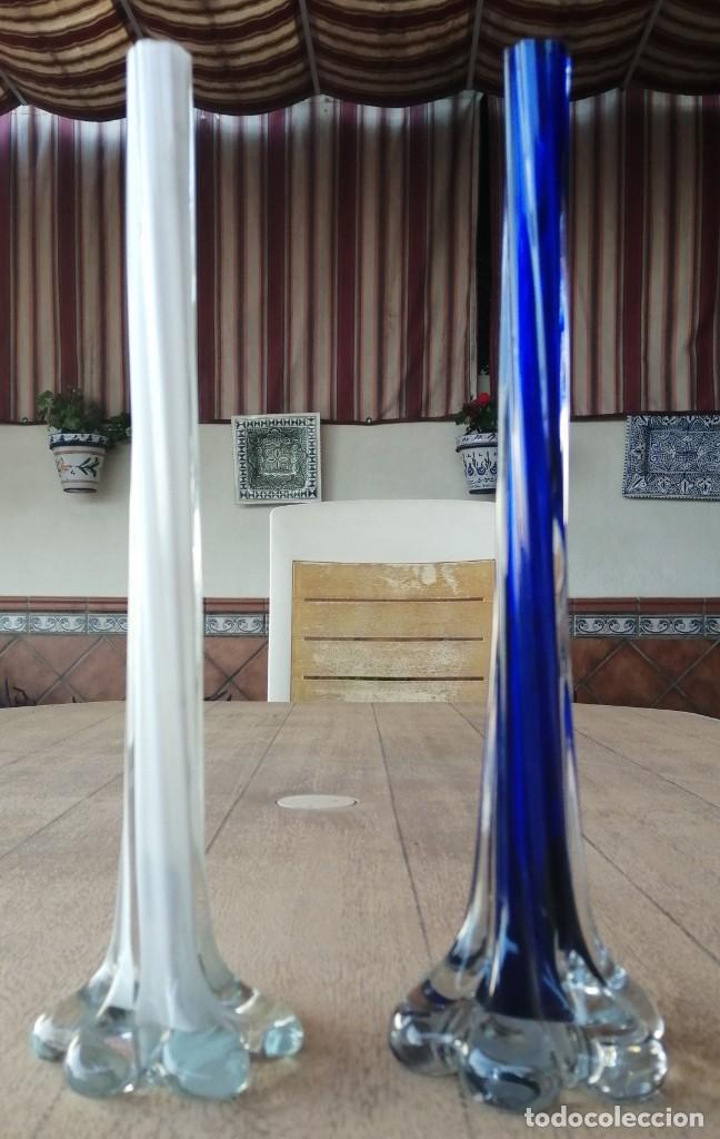FLOREROS, VIOLETEROS CRISTAL DE MURANO (Vintage - Decoración - Cristal y Vidrio)