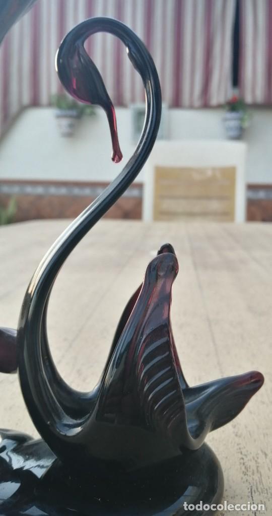 Vintage: Florero con cisne de cristal de Murano - Foto 2 - 287941653