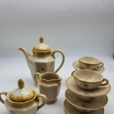 Vintage: JUEGO CAFÉ VINTAGE EN CERAMICA J.M. ( VER FOTOS Y DESCRIPCIÓN ). Lote 288036768