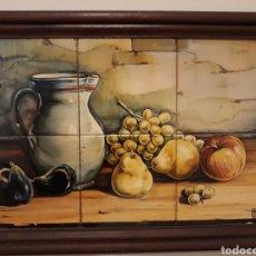 Vintage: BODEGÓN EN AZULEJOS. GRAN CALIDAD. FIRMADO. Lote 288387068
