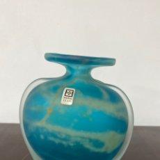 Vintage: JARRÓN DE CRISTAL MDINA GLASS MALTA.. Lote 292034318