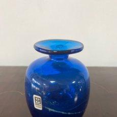 Vintage: JARRÓN DE CRISTAL MDINA GLASS MALTA. FIRMADO EN LA BASE.. Lote 292035148