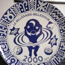 Vintage: PLATO. CERAMICA HOLANDESA. LE MILLÉNAIRE MILLENIUM. 2000.. Lote 295706493