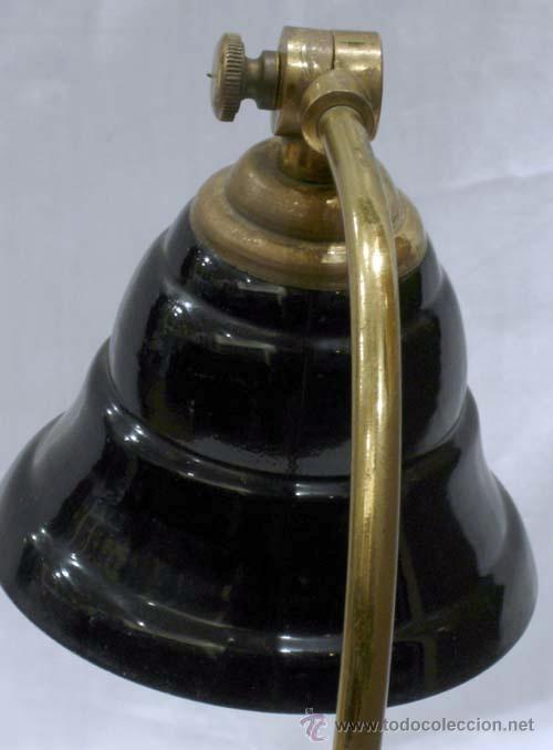 Vintage: Lámpara mesita noche metal color negro - Foto 4 - 11501657